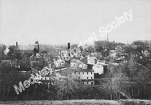 tn_Sanford St (looking north) Sanford Mills (center left)- Eaton & Wilson mills (foreground).jpg - 15953 Bytes